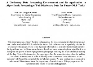 "Knauth/Alfter: ""Algorithmic Processing of Pali Dictionary Data for Future NLP Tasks"""